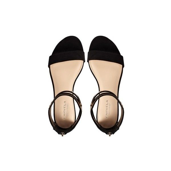 Carvela Keel Flat Sandals ($116) ❤ liked on Polyvore featuring shoes, sandals, flats, sapato, ankle wrap sandals, flats sandals, wide flats, ankle tie flat sandals and ankle strap shoes