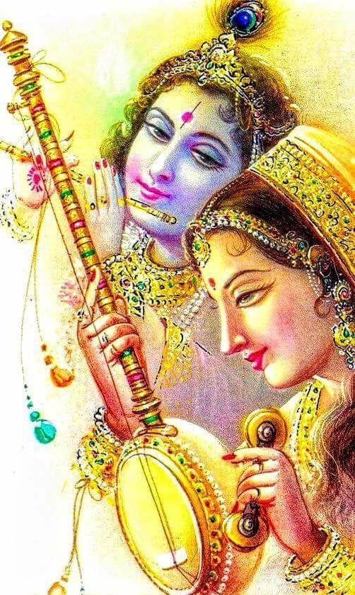 Eternal Lover Radha and beautiful Lord Sri #Krishna,Avatar of Lord #Vishnu,#Sri #Krishna