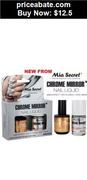 nails: 1 Mia Secret Chrome Mirror Nail Liquid UV Base Top Gel Set Mirror Effect Polish - BUY IT NOW ONLY $12.5