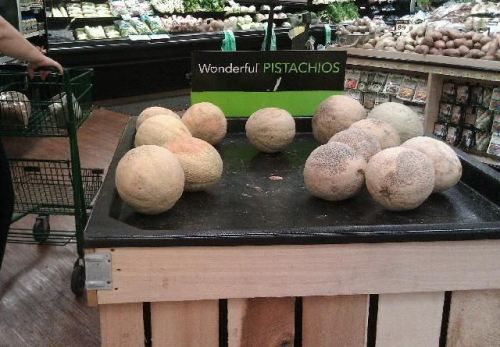 Yowza, if that's the size of their pistachios, we're going to need a forklift for their cantaloupes! ;-)