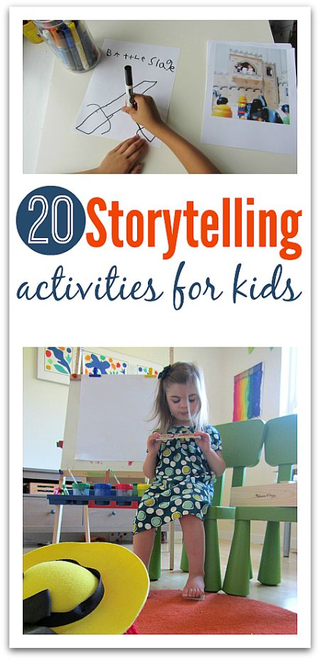 Get your kids telling stories { the kind you want them to tell not the stories about who may or may not have put a watch in the toilet } 20 fantastic storytelling activities for kids