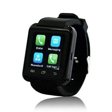 Yuntab Bluetooth Jogging U8 Smart Watch, Orologio Compagno Sport Watch di telefono Per IOS di Apple iPhone 4 / 4S / 5 / 5C / 5S / 6/6 plus Android di Samsung HTC LG Sony Nokia, Nero: Amazon.it: Elettronica