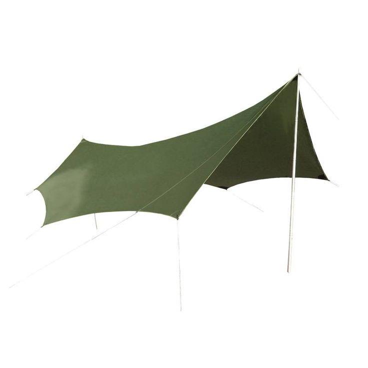 De Lowland Pinwing is een grote tarp welke geschikt is voor groepen en gezinnen. De Pinwing kan gebruikt worden als luifel aan een tent, maar ook als stand-alone tarp. Door de hoge waterdichtheid van deze tarp beschermt de Pinwing je tegen regen en wind, maar natuurlijk kan deze tarp ook dienen als zonnescherm. Door zijn grote oppervlakte wordt de Pinwing geleverd met 2 stalen stokken. € 169,00