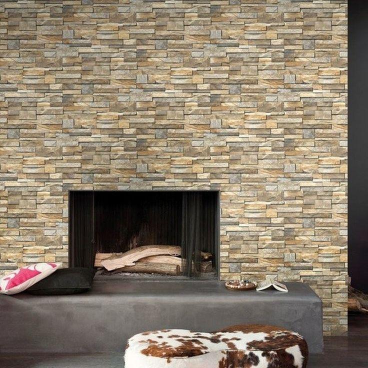 papel pintado para pared imitacin piedra de pizarra minimalista clicerio