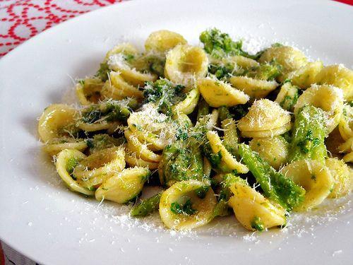 """""""Orecchiette con le cime di rapa"""" , special kind of pasta named orecchiette with vegetables """"cime di rapa"""". Region  of Origin : Puglia"""
