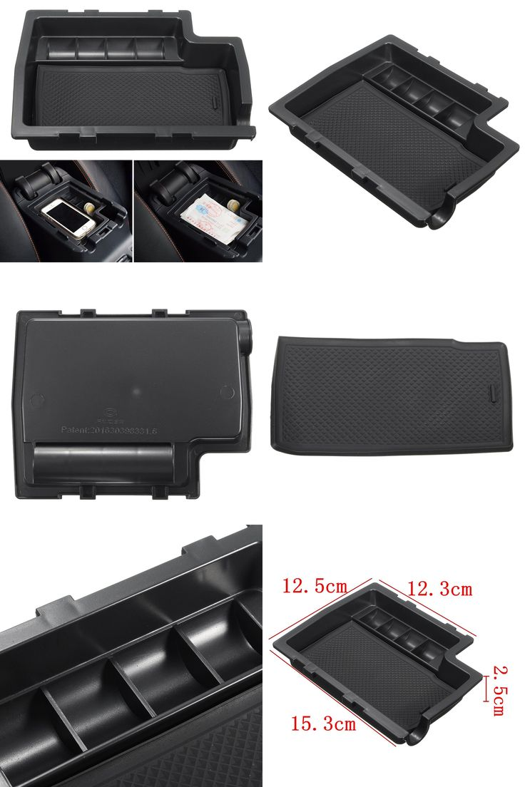 [Visit to Buy] Car Center Console Armrest Storage Box Tray Container For Subaru XV 2012-2015 w/ Mat Stowing Oganizer Holders #Advertisement