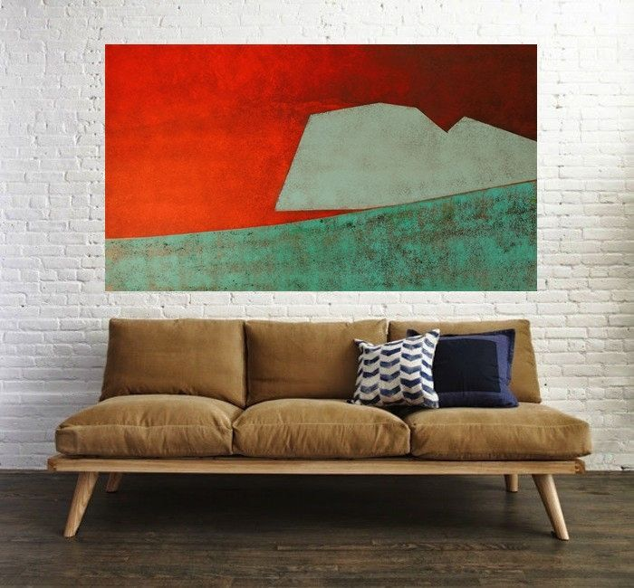 Abstract Painting, Canvas Wall Art, Original artwork, Landscape Art, Abstract Painting, Modern Art, Rusty by MravikArt on Etsy