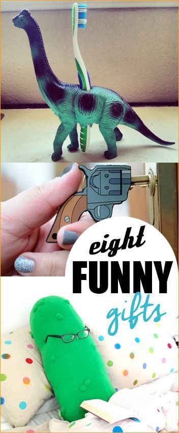 8 Funny Gifts.  Awesome white elephant gifts for you Christmas party.  Hilarious gifts for friends.