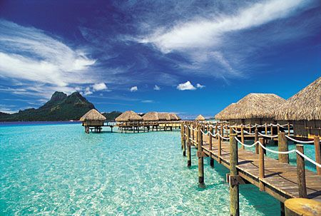 bora bora...would love to go here!!!
