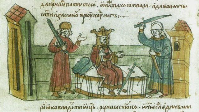 Rogneda of Polotsk, Vladimir I of Kiev and Izyaslav of Polotsk