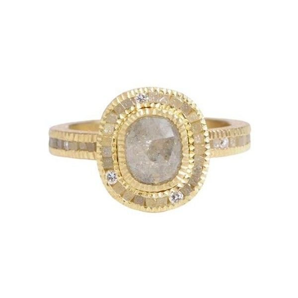 Love the textures in this ring by Todd Reed combining rough and cut diamonds.  The link is broken but I repinned; if anyone has a good link, that would be nice.