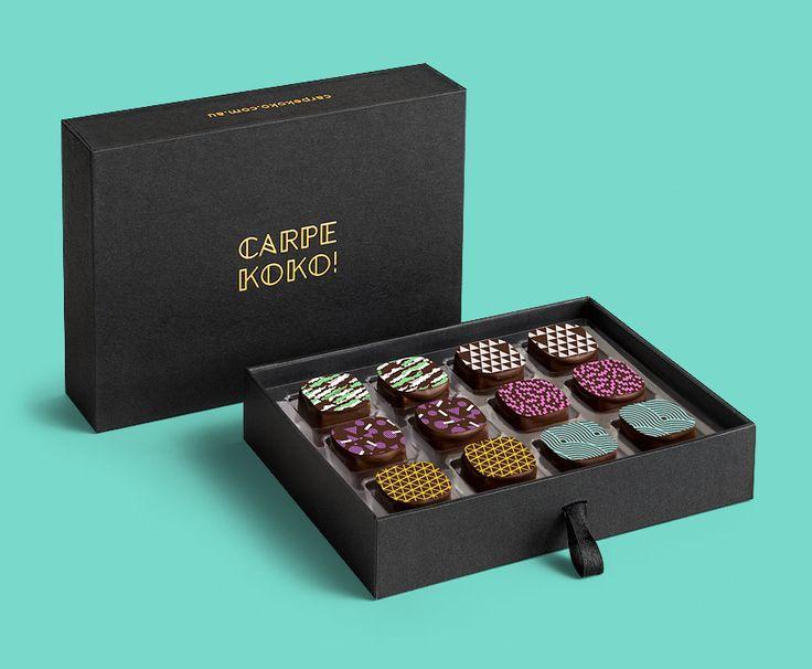 CARPE KOKO! Luxe Mix - 12 piece chocolate gift box. Buy online for delivery Australia wide www.carpekoko.com