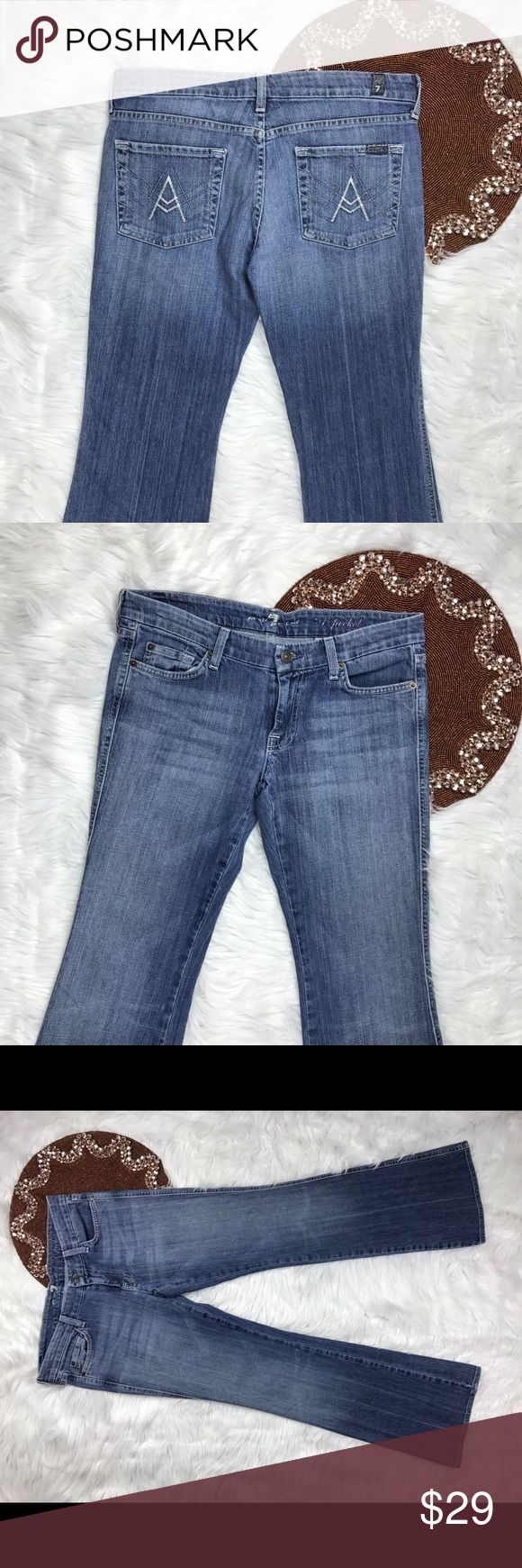 7 For All ManKind Women Jeans Lexie Petite -Great item ,  -please see pictures for more information   -There are NO Major Flaws with this item. If you notice a flaw that we did not mention, please contact us first before leaving negative feedback. We are only human and may make a mistake once in a while.   From Smoke Free Home 7 For All Mankind Jeans Boot Cut