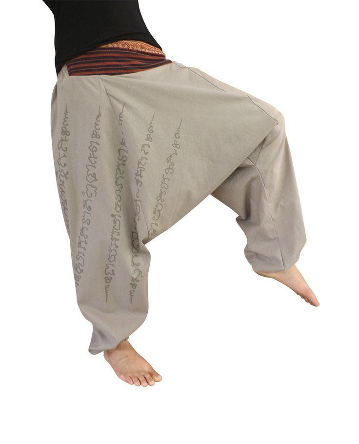 bonzaai Haremshose Sommerhose Aladinhose Pumphose Pluderhose GOA Hose yoga - alternative Bekleidung - Ha Taew grau