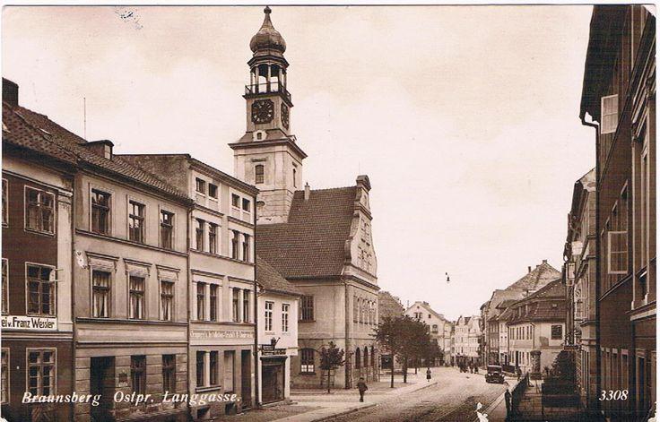 AK: BRAUNSBERG, Ostpr. / Braniewo. Langgasse. 1932