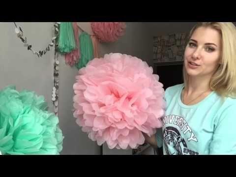 (8) Весенний декор: помпоны и гирлянда из кисточек - 8 Марта! Pompon ;) - YouTube
