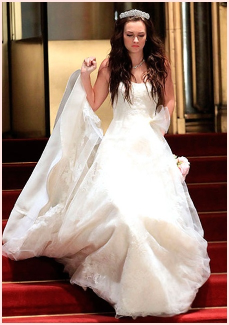 Blair waldorf vera wang wedding dress blair cornelia for Wedding dress blair waldorf
