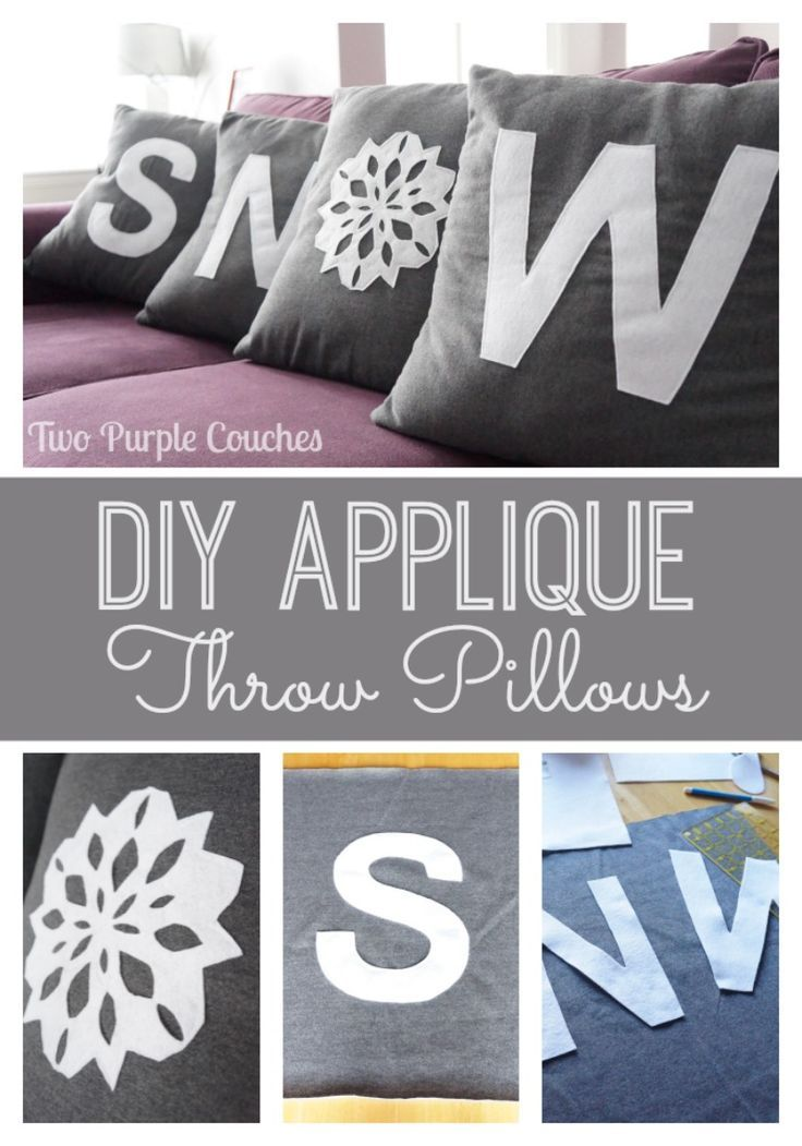 DIY SNOW Applique Throw Pillows and a Tutorial