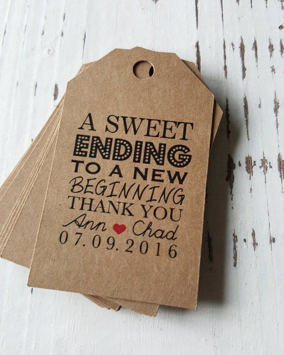 Favor Tags With Bakers Twine Thank You Tags A Sweet Ending Etsy Wedding Favor Sayings Wedding Gifts For Guests Wedding Favor Tags
