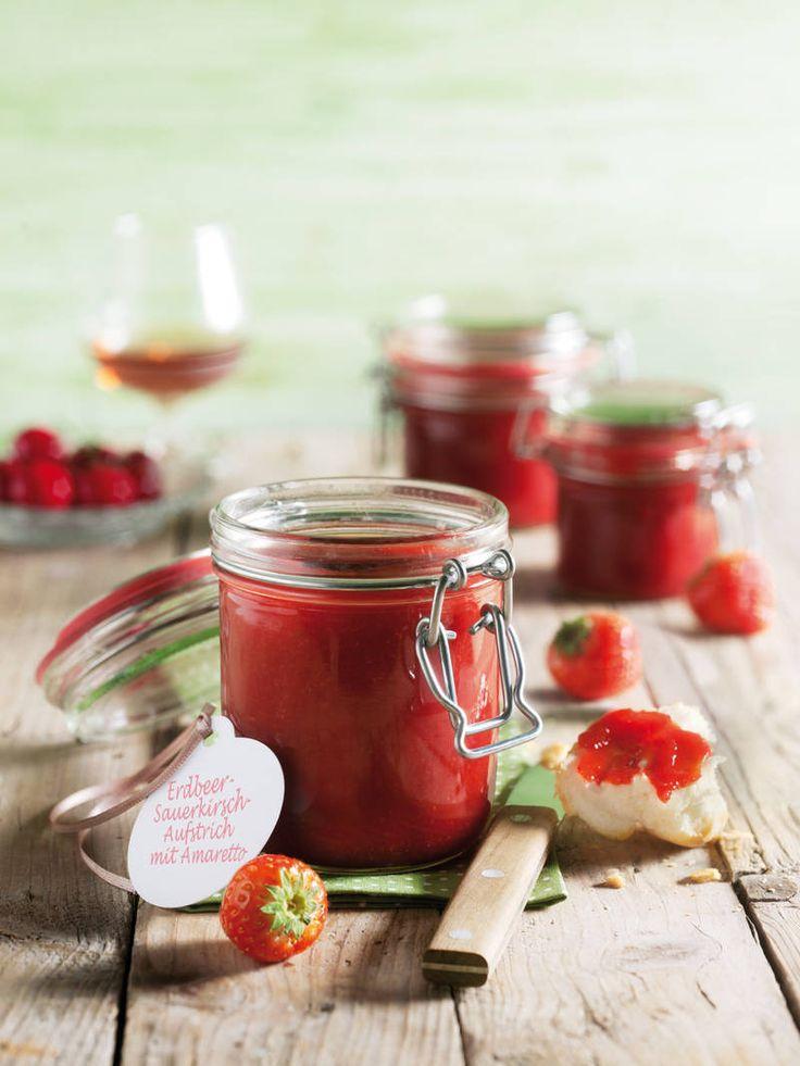 Erdbeer- Weichsel Marmelade