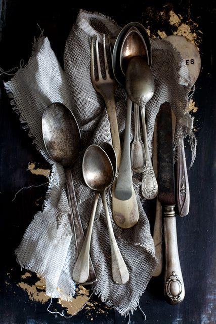 gray antique-y silver - love it