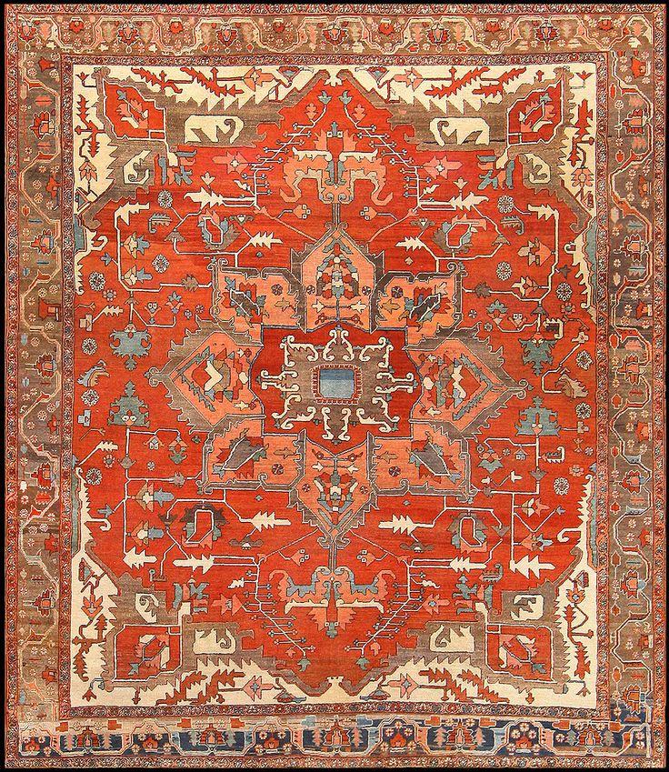 Persian Heriz rug, 1900