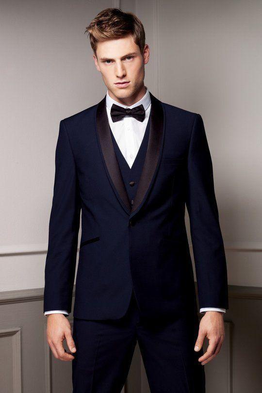 Best 25  Navy blue prom suits ideas on Pinterest | Navy suit blue ...