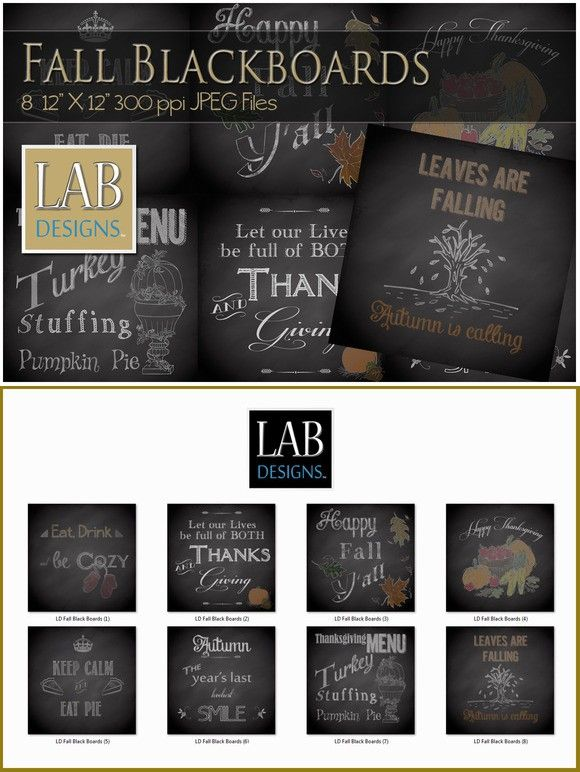 8 Fall Black Board Chalk Textures