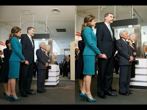 Queen Letizia of Spain Wore Turquoise Suit on Bullet Train with King Felipe VI and Emperor of Japan