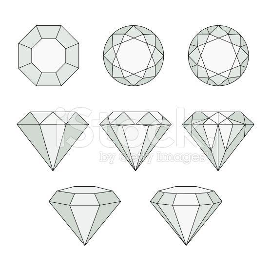 Set of isolated gem stones.Vector set of diamond design elements….