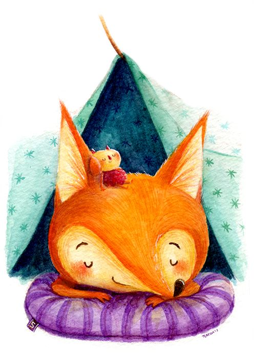 The Simple Adventures of Milton & Stella by Teressa Ong, via Behance #watercolor #artist