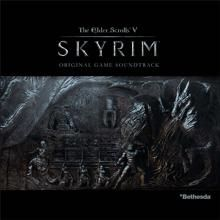 The Skyrim main music theme is written by Jeremy Shoule and is famous for being an epic song. This song isn't even written in english! It's in a language that's in the game