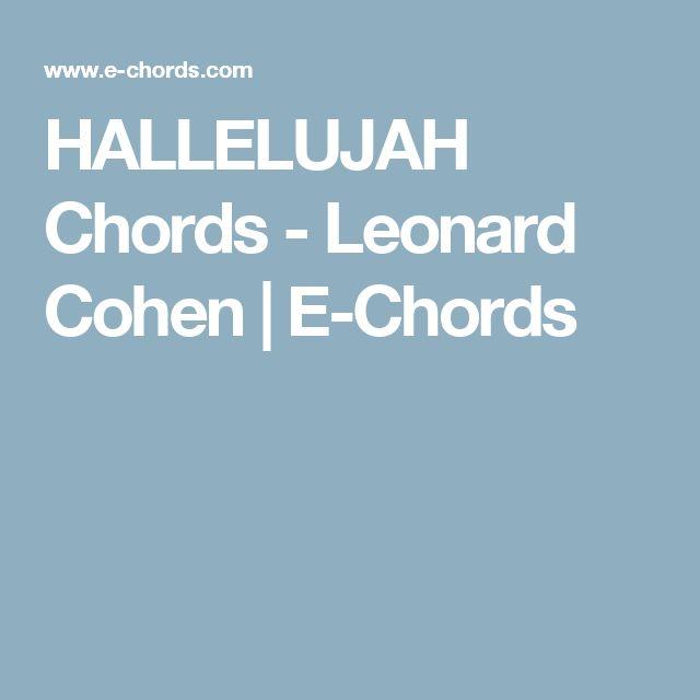 HALLELUJAH Chords - Leonard Cohen | E-Chords