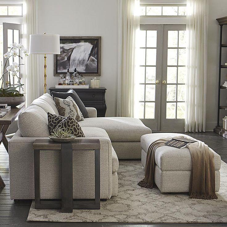 Allure Right Chaise Sectional. Living Room ... - 180 Best Images About BASSETT CUSTOM LIVING On Pinterest