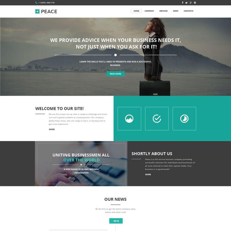Business Responsive Website Template Small Screenshot 57