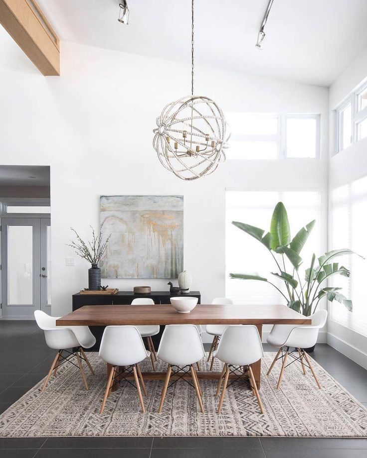 Stylish Minimal Dining Room Dining Room Small Family Dining Rooms Minimalist Dining Room #small #living #room #dining #table
