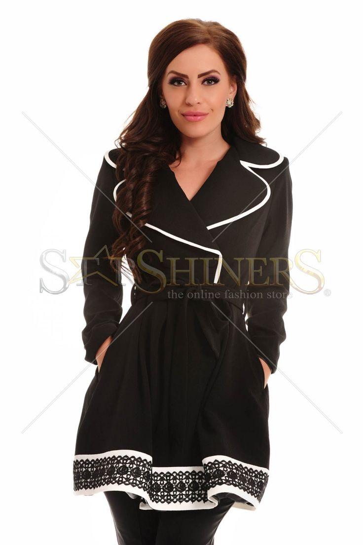 LaDonna Totally Classy Black Trechcoat