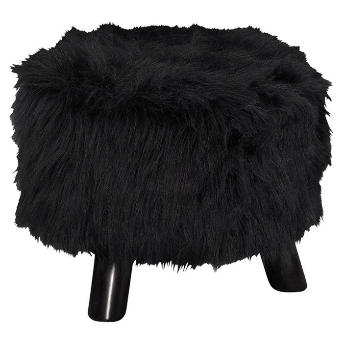 fur ottoman--make this mess yo self, make it to where you can store stuff like a blanket in it :D