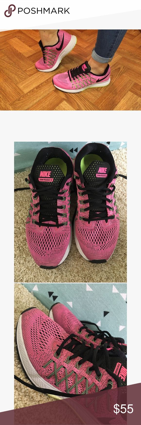 Nike zoom Pegasus 32 shoes Size 8. In great condition no holes or stains Nike Shoes Sneakers