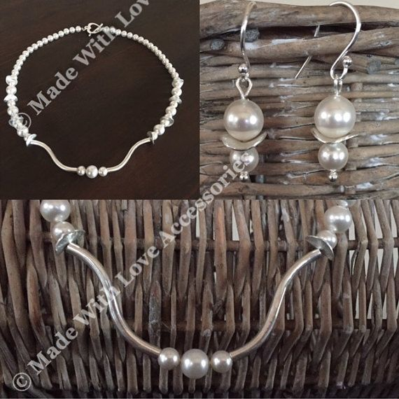 Swarovski Pearl & Sterling Silver Jewellery Set