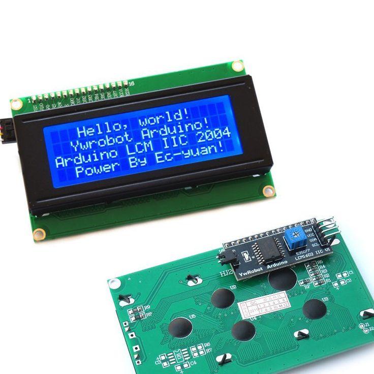 IIC/I2C/TWI Seryjny 2004 20x4 Wyświetlacz LCD Tarcza Niebieski Podświetlenie dla Arduino