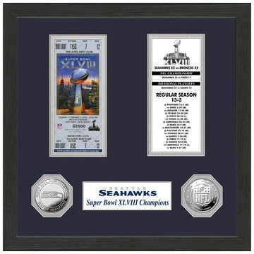 Seattle Seahawks Super Bowl XLVIII Champions Ticket Collection