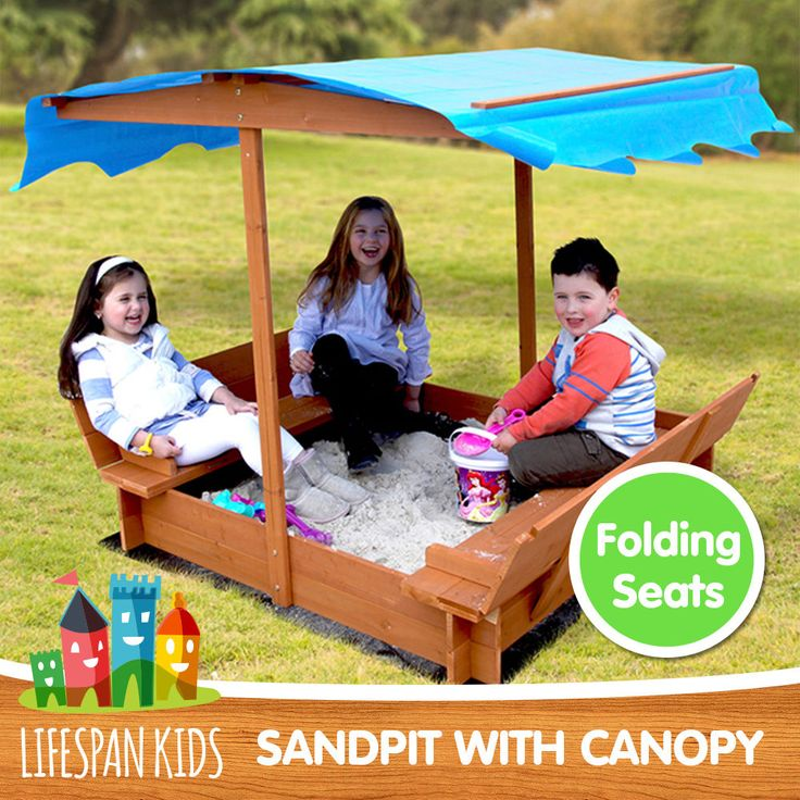 LIFESPAN NEW OUTDOOR KIDS WOODEN TOY SANDPIT WITH CANOPY in Toys, Hobbies, Outdoor Toys, Sandpit Toys | eBay