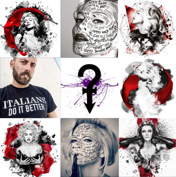 Je suis prete. Est-ce que vous etes pret, aussi? WILL ITALIANS DO BETTER ANOTHER TIME? Past and Present of Marco De Matteo M-Artwork WORKING FOR NEW EXHIBITION. ICONIC - Portraits & Artwork inspired by The Queen of Pop A project by Gabriele Ferrarotti, Ettore Ventura e Michele Sacco.
