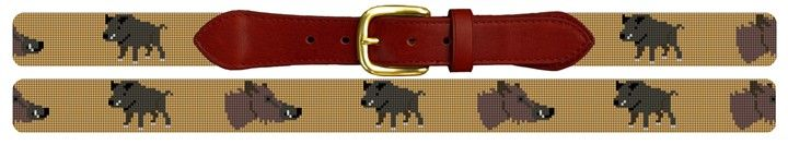 Boar Hunting Needlepoint Belt Canvas