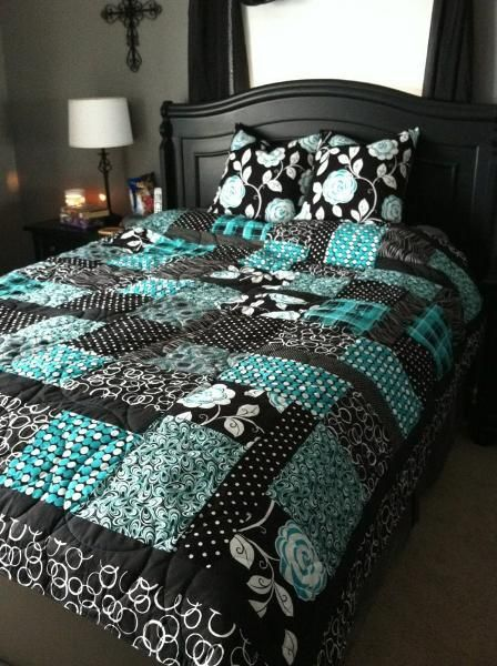 Such a beautiful quilted duvet!  Love the colors!