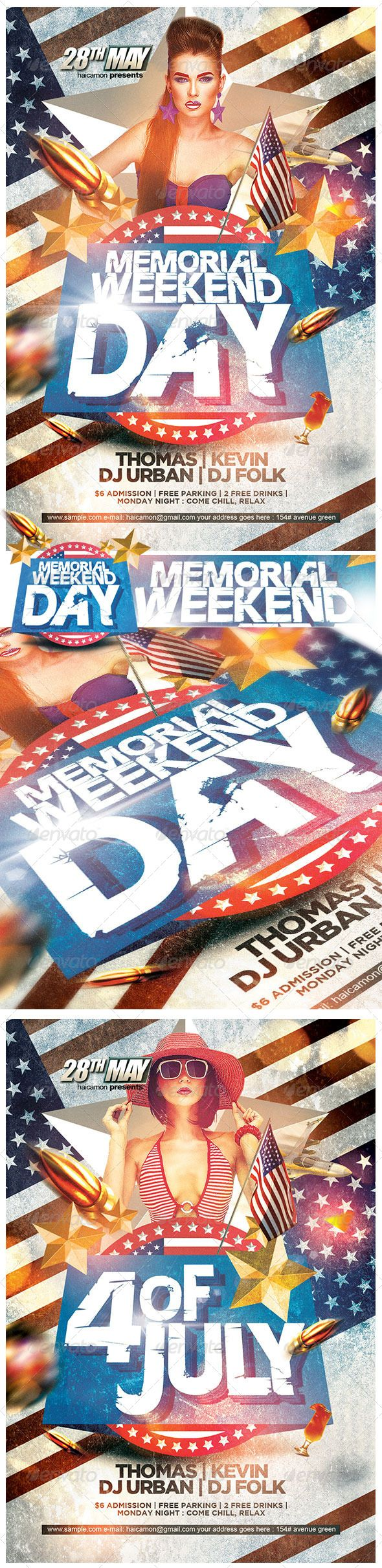 Memorial Day Weekend Party ...  4th july flyer, 4th of july, Memorial Day Event, Patriot flyer, club flyer, event, flyer, independence day, labor day, memorial day, memorial day flyer, night club, party flyer, patriot, weekend flyer