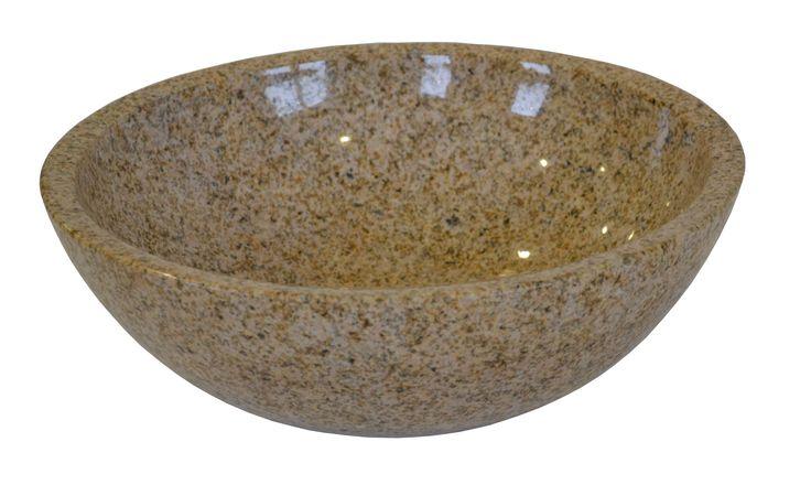 Umywalka nablatowa Yellow Pink Rasty Rodzaj kamienia granit możliwość podklejenia pod blat