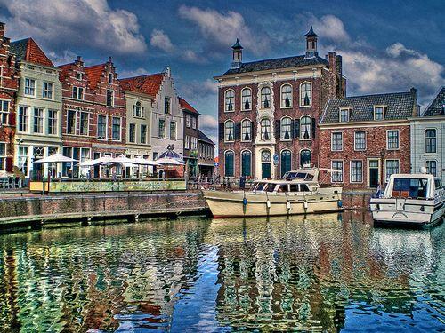 City harbour Goes, Zeeland, the Netherlands