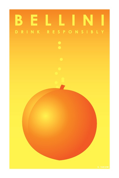 Bellini: Cocktail Posters (http://artofdrink.tumblr.com)